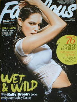 <!--2008-10-26-->Fabulous magazine - Kelly Brook cover (26 October 2008)