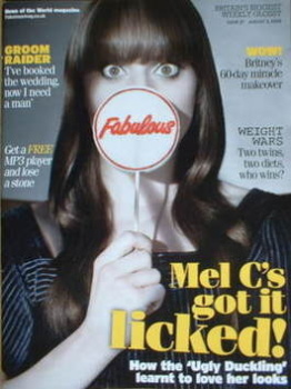 Fabulous magazine - Mel C cover (3 August 2008)