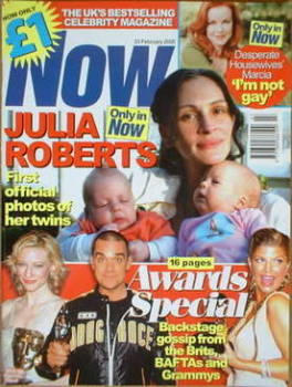 Now magazine - Julia Roberts cover (23 February 2005)
