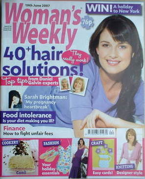<!--2007-06-19-->Woman's Weekly magazine (19 June 2007 - British Edition)
