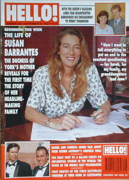 <!--1993-09-25-->Hello! magazine - Susan Barrantes cover (25 September 1993
