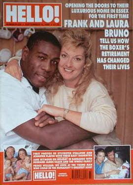 <!--1996-09-14-->Hello! magazine - Frank Bruno and Laura Bruno cover (14 Se