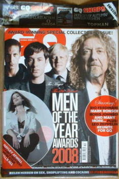 British GQ magazine - October 2008 - Men Of The Year Awards cover