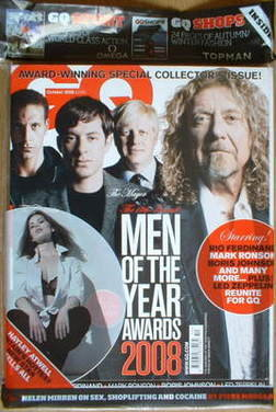 <!--2008-10-->British GQ magazine - October 2008 - Men Of The Year Awards c