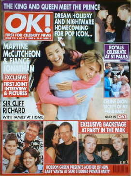 <!--2000-07-21-->OK! magazine - Martine McCutcheon cover (21 July 2000 - Is