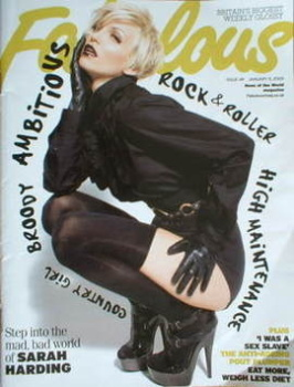 Fabulous magazine - Sarah Harding cover (11 January 2009)