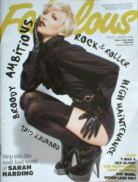 <!--2009-01-11-->Fabulous magazine - Sarah Harding cover (11 January 2009)