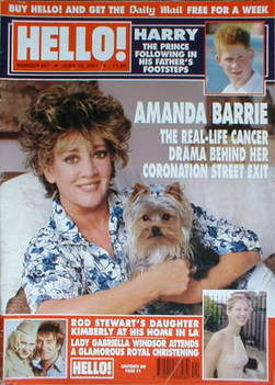 <!--2001-06-19-->Hello! magazine - Amanda Barrie cover (19 June 2001 - Issu