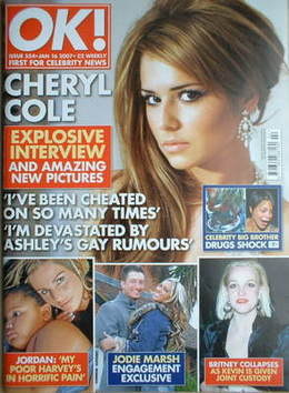 <!--2007-01-16-->OK! magazine - Cheryl Cole cover (16 January 2007 - Issue