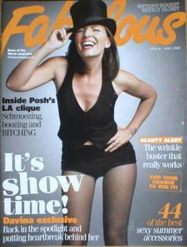 <!--2008-06-01-->Fabulous magazine - Davina McCall cover (1 June 2008)