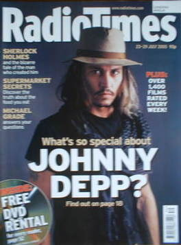 <!--2005-07-23-->Radio Times magazine - Johnny Depp cover (23-29 July 2005)