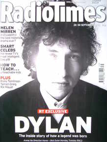 <!--2005-09-24-->Radio Times magazine - Bob Dylan cover (24-30 September 20