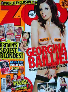 <!--2008-11-14-->Zoo magazine - Georgina Baillie cover (14-20 November 2008