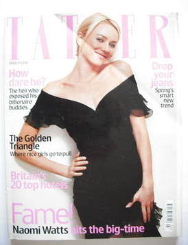 <!--2004-03-->Tatler magazine - March 2004 - Naomi Watts cover