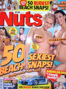 <!--2008-05-16-->Nuts magazine - Eva and Sophie cover (16-22 May 2008)