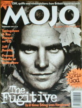MOJO magazine - Sting cover (February 1995 - Issue 15)