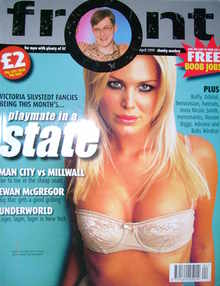 <!--1999-04-->Front magazine - Victoria Silvstedt cover (April 1999)
