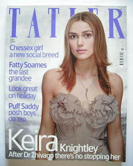 <!--2003-07-->Tatler magazine - July 2003 - Keira Knightley cover