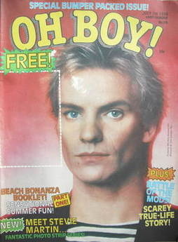 Oh Boy! magazine - Sting cover (5 July 1980)