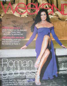 <!--2007-09-29-->Weekend magazine - Nancy Dell'Olio cover (29 September 2007)