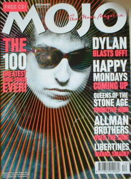 <!--2002-12-->MOJO magazine - Bob Dylan cover (December 2002 - Issue 109)