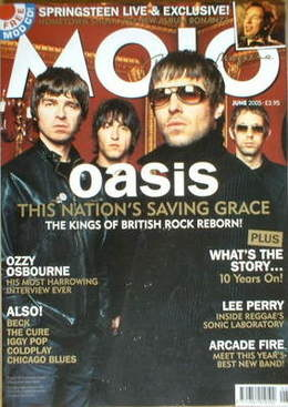 <!--2005-06-->MOJO magazine - Oasis cover (June 2005 - Issue 139)