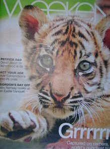 <!--2008-03-22-->Weekend magazine - Tiger cub cover (22 March 2008)