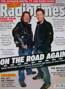 <!--2007-10-27-->Radio Times magazine - Charley Boorman and Ewan McGregor c