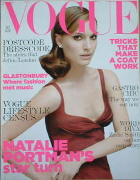 <!--2005-10-->British Vogue magazine - October 2005 - Natalie Portman cover