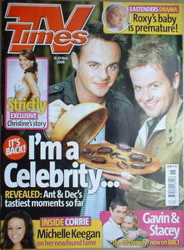 <!--2008-11-15-->TV Times magazine - Ant and Dec cover (15-21 November 2008