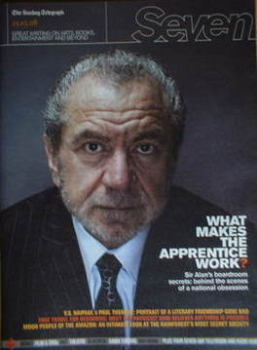 <!--2008-03-23-->Seven magazine - Sir Alan Sugar cover (23 March 2008)