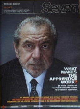 Seven magazine - Sir Alan Sugar cover (23 March 2008)
