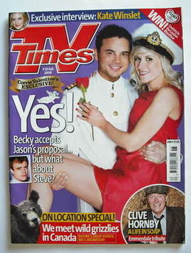 <!--2009-02-07-->TV Times magazine - Ryan Thomas and Katherine Kelly cover