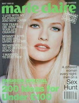 British Marie Claire magazine - May 1995 - Karen Mulder cover