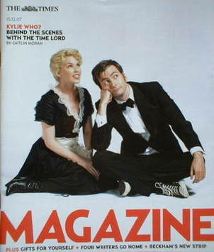 <!--2007-12-15-->The Times magazine - David Tennant and Kylie Minogue cover