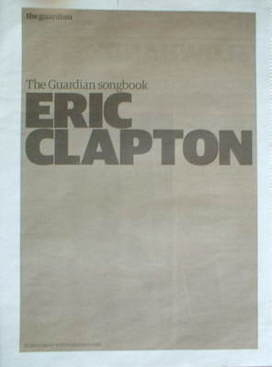 The Guardian newspaper supplement - Eric Clapton songbook (13 May 2008)