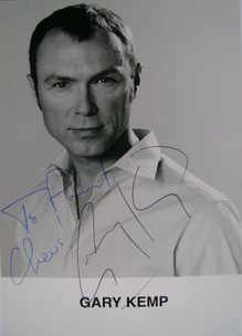 Gary Kemp autograph (hand-signed photograph, dedicated)