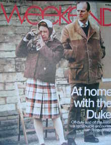 <!--2008-05-10-->Weekend magazine - The Queen & Prince Philip cover (10 May