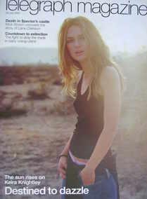 <!--2003-07-26-->Telegraph magazine - Keira Knightley cover (26 July 2003)