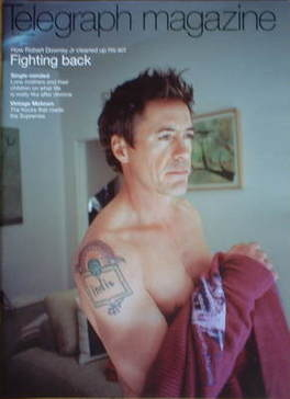 <!--2008-04-26-->Telegraph magazine - Robert Downey Jr cover (26 April 2008