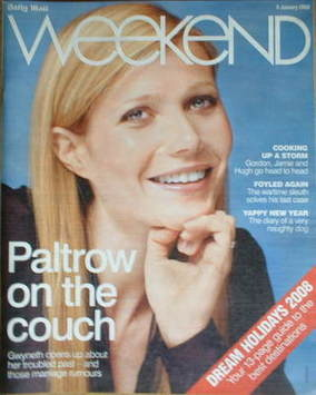 Weekend magazine - Gwyneth Paltrow cover (5 January 2008)