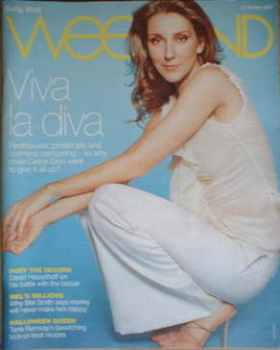 Weekend magazine - Celine Dion cover (27 October 2007)