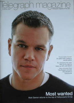 <!--2007-02-03-->Telegraph magazine - Matt Damon cover (3 February 2007)