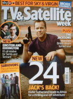 <!--2008-11-22-->TV &amp; Satellite Week magazine - Kiefer Sutherland cover (22-28 November 2008)