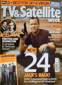 TV&Satellite Week magazine - Kiefer Sutherland cover (22-28 November 2008)