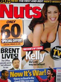 <!--2004-01-23-->Nuts magazine - Kelly Brook cover (23-29 January 2004)