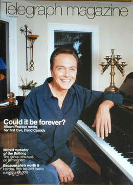 <!--2004-04-17-->Telegraph magazine - David Cassidy cover (17 April 2004)