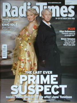 <!--2006-10-14-->Radio Times magazine - Helen Mirren cover (14-20 October 2