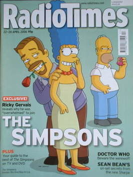<!--2006-04-22-->Radio Times magazine - The Simpsons cover (22-28 April 200