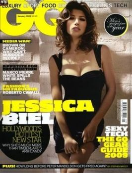 British GQ magazine - January 2009 - Jessica Biel cover